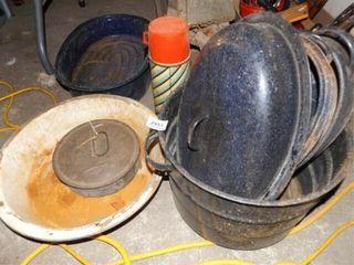 Enamelware Pans  Roasters  Thermos