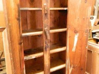 Primitive Wooden Storage Cabinet