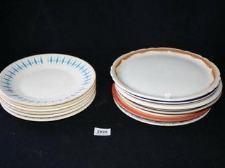 Diner Style Dinner Plates  6 Blue Diamond