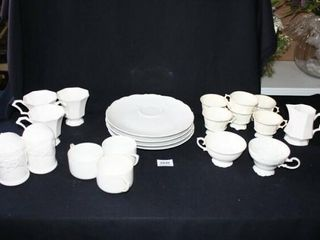 Various White Cups and Desert saucer plates