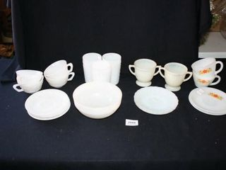White Fireking and other Dishes  Bubbles etc