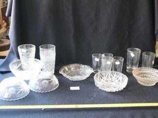 Glassware  Bowls  Drinking Glasses 14 pcs