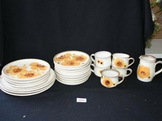 Denby  dinnerware Cups  Creamer  Plates