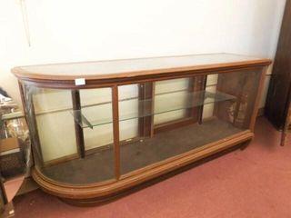 Wood   Glass Display Cabinet