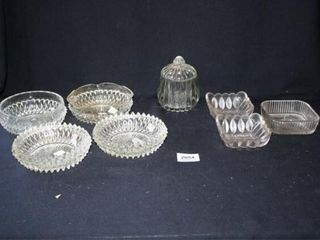 Round Bowls  Diamond Pattern  Covered