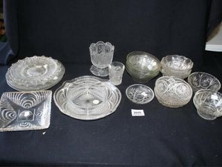 Various Glassware  Small Bowls  Plates  Cups