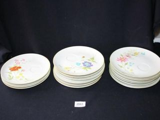 Ceramic Snack Desert Plates with cup ring 17