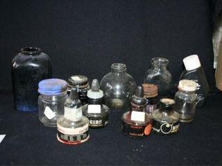 Colored Glass Bottles  Ink Bottles Various