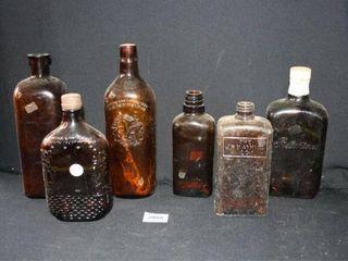 Brown Glass Jars  6 Total   Ballantines