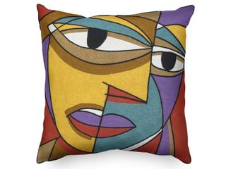 Handmade Picasso Inspired Heavy Embroidered Pillow Case Only   Made of Cotton
