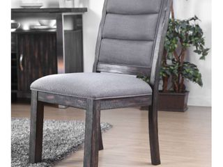 Carbon loft Bern Rustic Wooden Dining Chairs   Set of 2