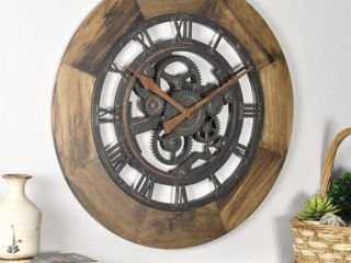 FirsTime   Co  19  Wood Gear Wall Clock   American Crafted