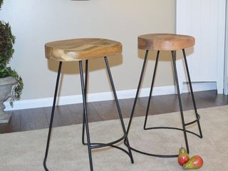 Carbon loft Counter Height Ewart Scooped Seat Stool   Set of 2