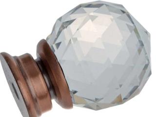 GlideRite 1 1 4  Round Crystal Cabinet Knob   Set of 5