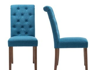Classic Upholstered Accent Dining Chair  Set of 2 Retail 135 99