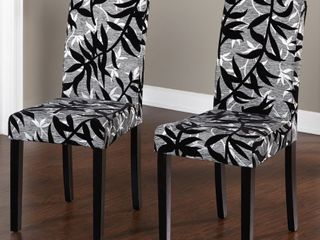 Simple living Parson Rubber Wood Dining Chairs   Set of 2