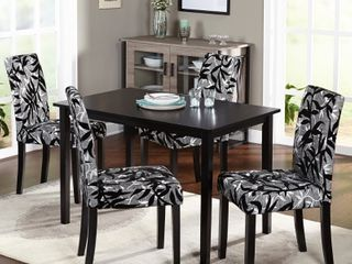 Simple living Parson Rubber Wood Dining Chairs   Set of 4