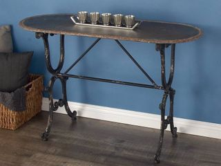 Farmhouse Distressed Metal Console Table by Studio 350