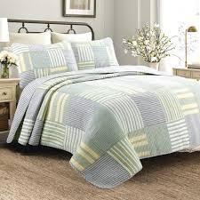 Cozy line Spa Stripes Patchwork Quilt Set   King