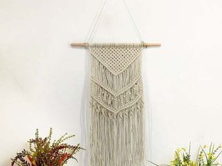 Bohemian Macrame Hand Woven Tapestry Wall Hanging Decorative Rope Blanket