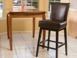 Tracy 32  Bonded leather Swivel Barstool by Christopher Knight Home