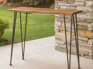 Denali Outdoor Industrial Rectangle Bar Table by Christopher Knight Home