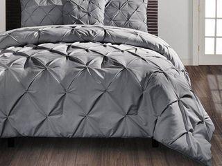 VCNY Carmen Pintuck 4 Piece Comforter Set   Queen