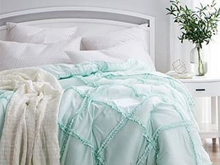 BYB Gathered Ruffles Handcrafted Series Comforter  Shams Not Included    Queen