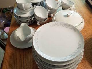 Royalton china 59 pc set  3 plates have small chips