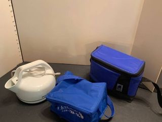 lunch boxes and teapot