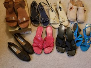 Womens shoes 9 and 9 1 2 8 pairs