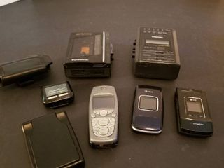 Assorted electronics  cell phones and cassette players