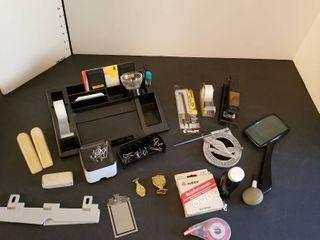 An assortment of office items