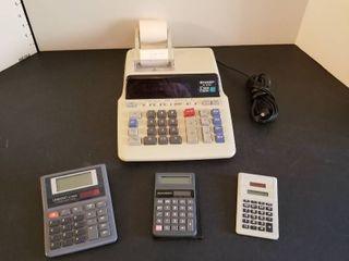 Adding machine and calculators