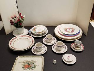 Assorted China  cups and saucers