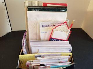 An assortment of writing pads