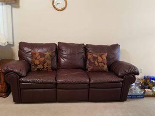 Dual reclining sofa 35 x 94 x 44