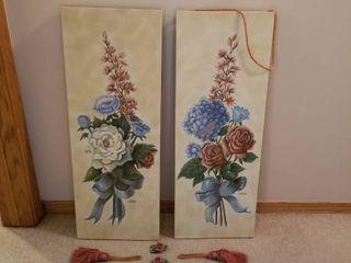 Set of 2 floral panels