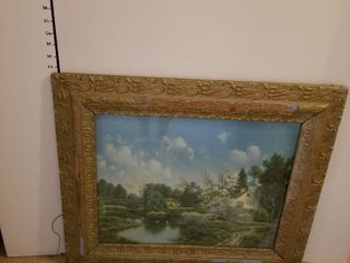 Antique frame with picture