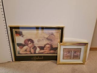 Set up 2 angel prints framed