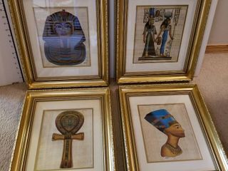 Egyptian prints set of 4
