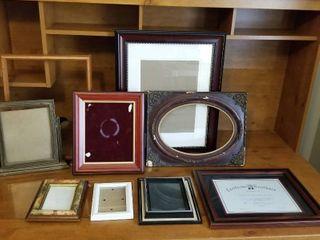 An assortment of frames