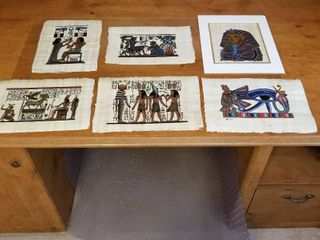 Egyptian paintings on papyrus