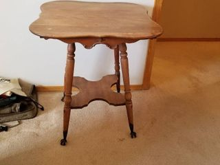 Antique table 28 by 25 by 25