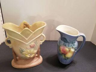 Hull vase  cracked  and Royal Copley