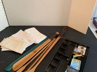 Mens handkerchiefs  back scratchers and assorted items