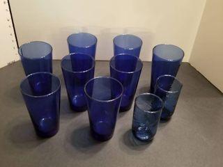 10 blue glassses