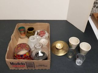 Assortment of candleholders