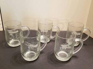 Airplane mugs set of 5