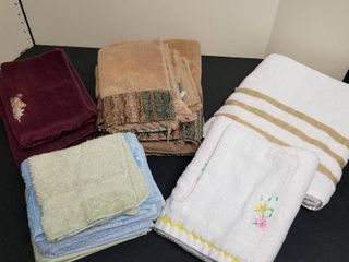 An assortment of towels and hand towels